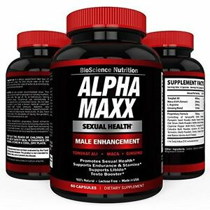 Alpha MAXX Sexual Health Male Enhancement 60 Caps Testosterone Booster